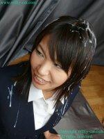 Эротические фотографии со спермой на лице молодых девушек bs002