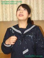 Эротические фотографии со спермаком на лице молодых девушек bs02