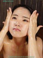 Сексуальные фотки со спермой на лицах симпатичных потаскушек dmc27