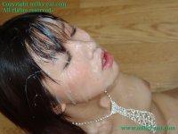 Сексуальные фото со спермаком на лице красивых блядей fb03