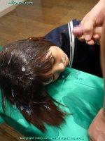 Эротические фотографии со спермаком на лице молодых шлюх fb11
