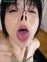 Эротические фото со спермой на губах симпатичных шалав fb16