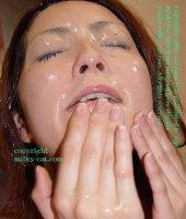 Сексуальные фотки со спермаком на лице прекрасных потаскушек sfd03