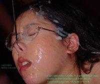 Красивые фото со спермаком на лице прекрасных потаскушек yumi